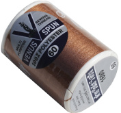 RaanPahMuang Strong Grade Venus Sewing Thread 100% V-Spun Polyester, Russet Brown