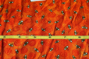 orange sunset bee print alligator tales print cotton fabric buy by the yard supply:jens_buys