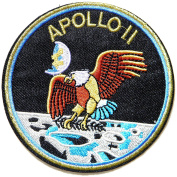 APOLLO 11 Space Logo NASA Pilot Spacecraft Jacket T-shirt Uniform Patch Sew Iron on Embroidered Sign Badge Costume
