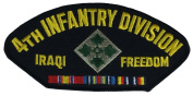 4TH INFANTRY DIVISION IRAQI FREEDOM PATCH - Multi-coloured - Veteran Owned Business