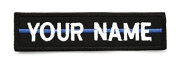 Rectangular 1 Line Custom Embroidered Name Tag with sew on Patch