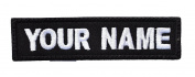 Customizable Text 1x4 Patch Hook and loop Hook - Military/Morale - Black