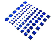 Multi Shape Self Adhesive Diamond Rhinestone Peel Stickers-Royal Blue