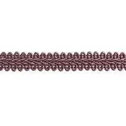 1.3cm CHINESE BRAID TRIM,DUSTY ROSE, 9 YDS