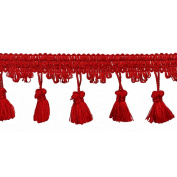 55mm TASSEL FRINGE,CHERRY, 6 YDS