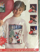 Gentle Santa Fun Fashion Sequin Kit With Multicolor Transfer Stitch Or Glue