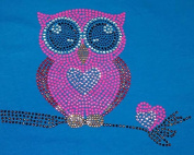 Owl Rhinestone Iron On Heat Press Children T-Shirt design Infant Love Owl