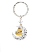 Pendants Keychain I Love You To The Moon And Back Key Ring Fashion Jewellery Valentine's Day Birthday Wedding Gift for grandpa