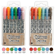 Ranger Tim Holtz 12 Distress Crayons Sets #6, #7