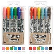 Ranger Tim Holtz 12 Distress Crayons Sets #6, #7
