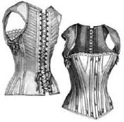 1890 Corset Waist for Girl 12-14 Years Pattern - 60cm Bust - 46cm Waist