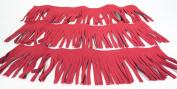 Synthetic Microfiber Suede 10cm Trim - 7.6cm - 30cm Lengths RED