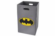 Batman Logo Folding Laundry Basket, Grey
