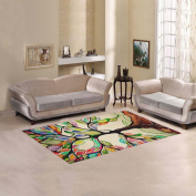 JC-Dress Area Rug Cover Tree Of Life Modern Carpet Cover 1.5mx0.9m