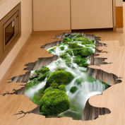 Wall Stickers,GOODCULLER 3D Stream Floor Wall Sticker Removable Mural Art Removable Wall Sticker Background Decorated Decal Home Decor