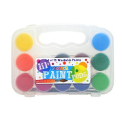 International Arrivals Lil' Paint Pods Poster Paint with Brush, Set of 12