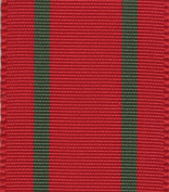 Entertaining with Caspari Red with Green Stripes Ribbon, 3.8cm x 8 Yards, 1-Roll