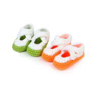 Miracle4ever Premium Soft Knitted Woollen Baby Shoes Comfortable Anti-slip, 2 Pairs