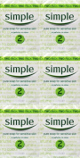 SIX PACKS of Simple Soap Bar 125g Twin Pack