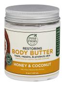 Body Butter, Restoring, Honey & Coconut Oil, 8 oz (237 ml) - Petal Fresh