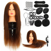 Fulltime(TM) Professional Hair Hairdressing Equipment Styling Head Doll Mannequin Training Head Tools Braiding Sets Practise Model