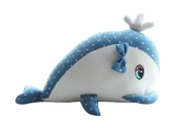 Drasawee Girls Plush Dolphin Figure Toys Magnetic Animal Stuffed Dolls Blue