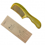 EQLEF® Green sandalwood no static handmade comb
