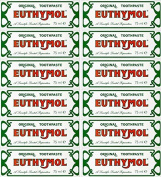 24 PACKS of Euthymol Toothpaste 75ml
