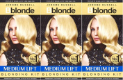 SIX PACKS of Jerome Russell B Blonde Medium Lift Blonding Kit