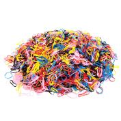 Kakaxi(TM) Colourful No Damage Girl Elastic Hair Rubber Bands, 4000Pcs