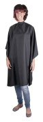 Professional BLACK Sleeveless Hairdressing Gown - Water-Repellent - Adjustable Neck