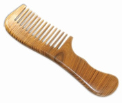 UK Seller! 100% Hand Made Green Sandalwood Comb, Large Sandal Wood Comb anti static 17.5cm