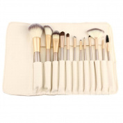 Jspoir Melodiz 12 Pcs Portable Beauty Tool kit Golden White Makeup Brushes Professional Makeup Brushes Persiano Make Up Tool Accessories foundation brush