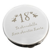 Personalised Butterfly Round Age Compact Mirror by C.P.M.