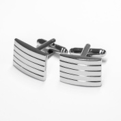 Gospire Silver Pure Metal Cufflinks Cuff Links a pair for Mens Dress