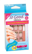 So Good French Flat and Regular Nails 24 Nails 12 Sizes and Glue
