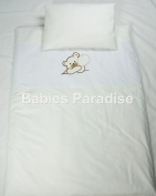 Babies Paradise Applique 2 Piece Baby Bedding Set with Bear Design Beige