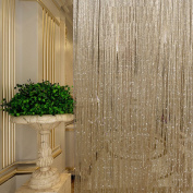 Multi-mo 1x2 M Door String Curtain Flat Ribbon Thread Fringe Window Panel Room Divider Cute Strip Tassel