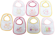 7 pack BABY BIBS Boys Girls DAYS OF THE WEEK Towel Front PEVA backing 6 designs