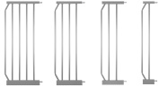 "IB-Style -Extensions for Door- & Stairgate Safetygate MIKA silver | 4 different lengths | 12"" / 30cm"