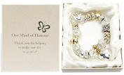 Amore Silver and Gold Bead Charm Bracelet - Maid of Honour