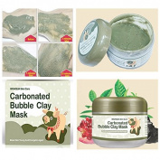 LM Carbonated Bubble Clay Facial Mask Whitening Oxygen Mud Blackhead Remove Acid Pore Cleansing Cleanse