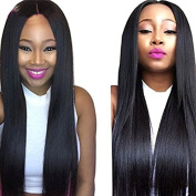 PlatinumHair Black Natural Looking Silky Straight Wigs Synthetic Lace Front Wigs 180Density Glueless for Women Synthetic Wigs 46cm - 70cm