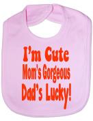 I'm Cute Daddys Lucky - Funny Baby/Toddler/Newborn Bib - Baby Gift
