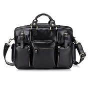 Gendi High Quality Handmade bags 100% Genuine Leather Men's Briefcase Laptop Bag Dispatch Shoulder Bag,42cm L x 13cm W x 30cm H