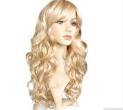 Cool2day®High Quality Womens Light Blonde Fashion Natural Full Curl Wig Cosplay Party Wigs