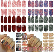 Water Decals Nail Art 6 sheets 72 pcs Water Transfer Stickers Nail Sticker set #267 Nail Sticker Tattoo - FashionLife
