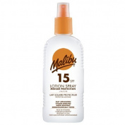 Malibu Medium Protection Sun Lotion Spray SPF15 With Vitamin E And Pro Vitamin B5 200 ml