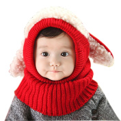 Panlom® Winter Baby Kids Girls Boys Warm Woollen Coif Hood Scarf Caps Hats