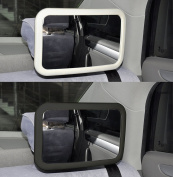 ViVo© White Large Adjustable Wide View Rear/Baby/Child Seat Car Safety Mirror Headrest Mount